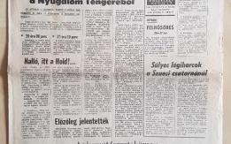 EMBER A HOLDON Címlappal kiadott 1969. július 20-i újság